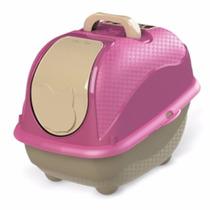 Banheiro Para Gatos Cat Box Rosa Plast Pet