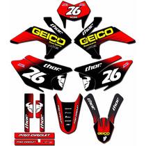Kit Adesivos Graficos Crf 230 Ano 2015 Moto Crfmd-07