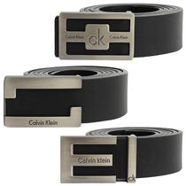 Cinto Couro Masculino Ck Calvin Klein Fivela Lançamento