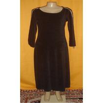Vestido Feminino Longo De Veludo Molinho Tam.médio A-5