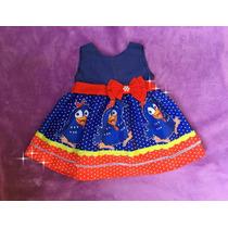 Vestido Infantil Galinha Pintadinha Tamanhos 8 E 10 Anos