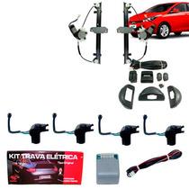 Kit Vidro Elétrico Hyundai Hb20 Traseiro + Trava Específica