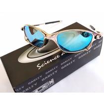 Óculos Ockley Julliet Double Xx Crome Lente Azul Ice Metal
