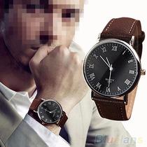 Relógio Importado Europa Em Couro Masculino - Super Promoção
