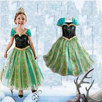 Fantasia Vestido Frozen Ana Pronta Entrega
