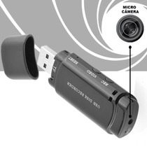 Pendrive Espiao Micro Camera Espia + De 25 Hrs Voz E 4 Filma