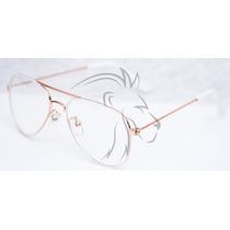 Armação De Óculos Para Grau Modelo Aviador Infantil Feminino