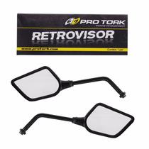 Espelho Retrovisor Esportivo Mini Aza (par) Honda Preto