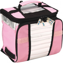Necessaire Térmica Bolsa Cooler Lancheira 7,5 Litros Rosa