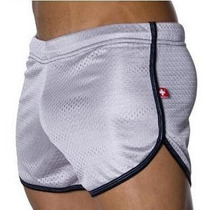 Cueca Boxer Andrew Christian Mesh Shorts Branca Sunga