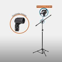 Pedestal P/ Microfone Vector Pmv100p, Atacado Musical