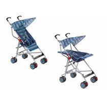 Carrinho De Bebê Passeio Voyage Umbrella Azul - 2 Posiçoes