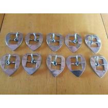 10 Fivelas Inox Coração P Larg 4cm-comp 4.6cm-passada 2.1cm