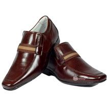 Sapato Social Masculino Estilo Ferracine Couro Legítimo Luxo