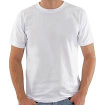 Camiseta Lisa Malha Fria Camisa Branca Ótima P/ Estampas