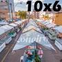 Lona 300 América Branca Impermeável P/ Barraca De Feira 10x6