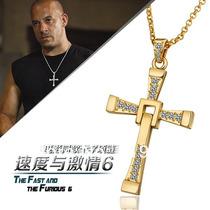 Colar Cordão Velozes E Furiosos Cruz Toretto Plated Ouro 18k