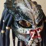 Capacete Predador Realista - Ouro Fibras