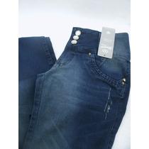 Calça Jeans Cintura Alta Elastano Strech Lycra Estilo Top