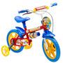 Bicicleta Infantil Fireman Aro 12 Rodas De Apoio 98 - Colli