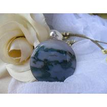 Jóia Pingente Jasper Azul Prata 925