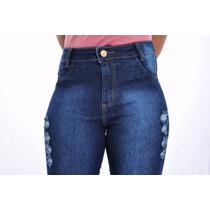 Jeans Hot Pants Marca Calça Cintura Alta Vestluz