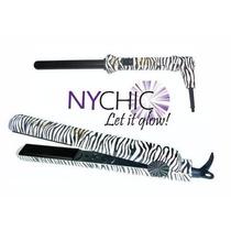 Kit Profissional Chapinha + Modelador De Cachos Zebra Nychic