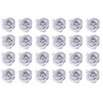 Kit 24 Spot Embutir 5w Led Luminária Inclinar Branco Quente