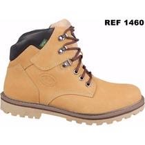 Sapato Bota Coturno Masculino Casual Adventure Em Couro 100%