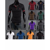 Camisa Polo Slim Fit Fashion - Cores - Pronta Entrega