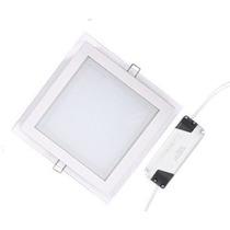 Plafon Embutir Vidro Quadrado 18w - Bivolt - Rv Iluminacao