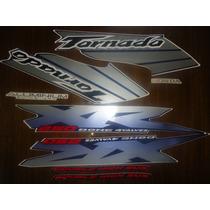 Adesivos Xr 250 Tornado 03 Azul Frete Grátis