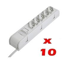 10 Filtro De Linha Régua 5 Tomadas Proteção Rede Novo Padrão