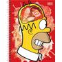 Caderno Capa Dura Universitário Simpsons 1x1 96 Folhas - T