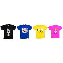 Camisetas Infantis Hora De Aventura - 4 Por Apenas R$85,00