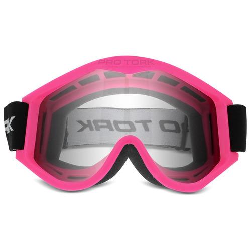 Oculos Motocross Pro Tork 788 Trilha Off Road Cross Rosa
