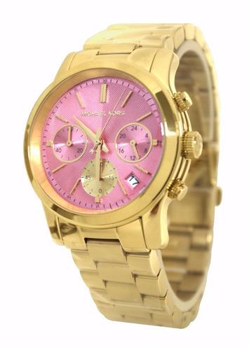 Relógio Michael Kors Mk6161 Dourado Fundo Rose Caixa manual 478a1d8116
