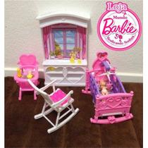 Quarto De Bebê Para Barbie E Outras Bonecas - Promoção