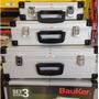 Kit C/ 3 Maletas Para Ferramentas Em Aluminio Bauker *sm61