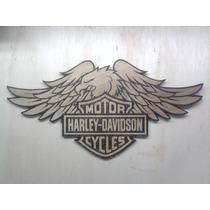 Harley Davidson Motor Cycle Logo Pirógrafo Quadro Moto