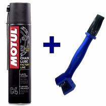 Kit Limpeza De Corrente Motul C4 Chain Lube + Escova