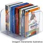 Aparador Suporte De Livros Organizador Triplo Cristal