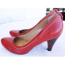 Sapato Scarpin Feminino Sonho Dos Pés Cor Vermelho Tam.37