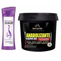 Shampoo Bomba Cresce Pelo + Anabolizante New Liss Hair 300g