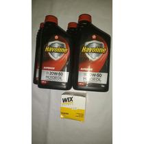 Oleo 20w50 Sj Havoline Kit 4 Litros+filtro Monza/corsa/celta