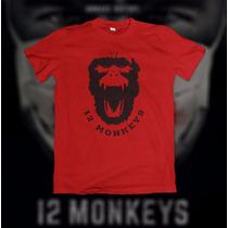 Camiseta 12 Monkeys (os 12 Macacos) Masculina