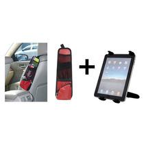 Porta Treco Para Carro + Suporte Veicular Para Tablets