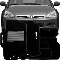 Tapete Carpete Bordado Honda Accord 2006/... - 5 Pçs