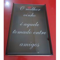 Caixa Porta Rolha Amantes De Um Bom Vinho (mdf Madeirado)