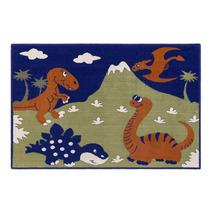 Tapete Infantil Dinossauro Azul